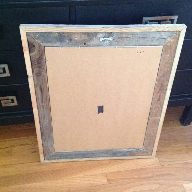 Rustic Wood Framed Picasso Nude Print - Image 5 of 6