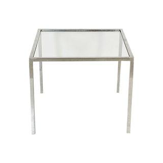 1970s Milo Baughman Style Chrome Table