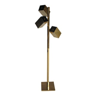 Koch & Lowy Adjustable Brass Floor Lamp