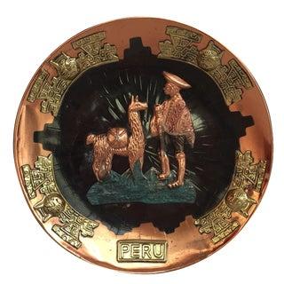 Metal Peruvian Plate