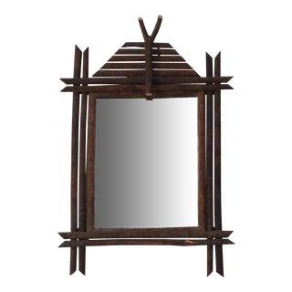 Adriondack Twig Art Mirror