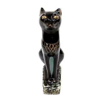 Signed Vintage Egyptian Black Bastet Cat