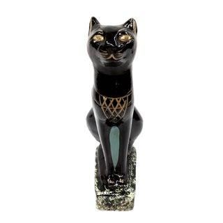 Signed Vintage Egyptian Black Bastet Cat