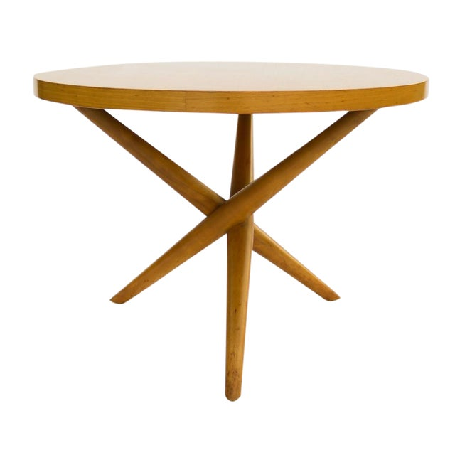 1955 T.H. Robsjohn-Gibbings Widdicomb Tripod Table - Image 1 of 7