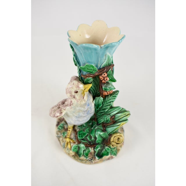 19th Century Royal Worcester Song Bird Posey Vase - Image 3 of 10