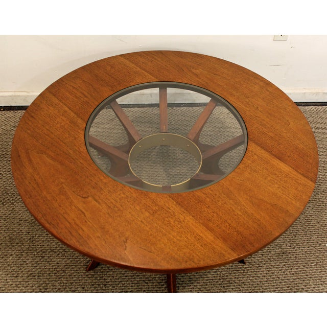 Mid-Century Danish Modern Round Sputnik Coffee Table