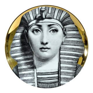 Fornasetti Gold Tema E Variazioni Plate, Number 221, the iconic image of Lina Cavalieri