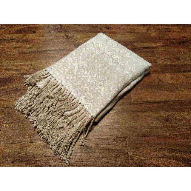 Image of Gambrell Renard Beige Ollie Wool Throw