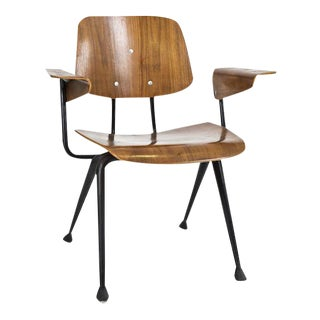 1950s Mid-Century Wood & Metal Chair