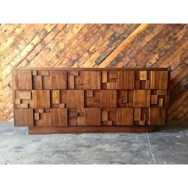 Mid Century Brutalist Dresser by Lane - Image 2 of 7