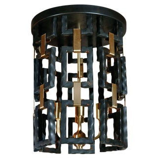 Paul Marra Link Fixture in Brass and Oil Rubbed Bronze