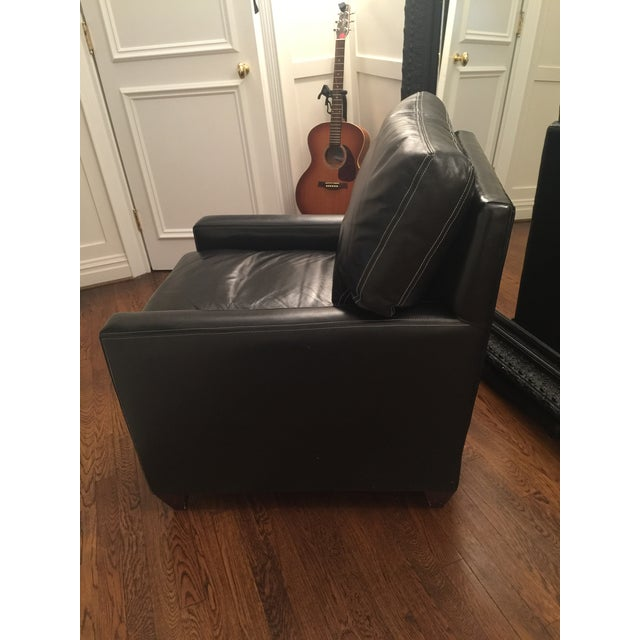 Custom Leather Contemporary Chairs - Pair - Image 3 of 9