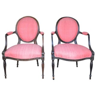 19th Century French Armchairs - a Pair