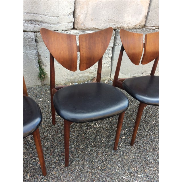 Ostervig Teak Leather Butterfly Chairs - Set of 5 - Image 3 of 9