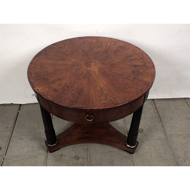 1950s Regency Style Round Side Table - Image 3 of 8