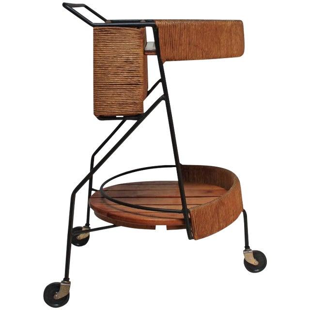 Arthur Umanoff Two-Tier Bar Cart - Image 1 of 10