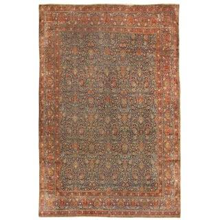 Antique 19th Century Persian Mohtasham Kashan Carpet