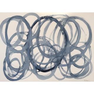 'Blue Circles' Original Painting