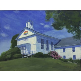 Original Painting of a New England Church