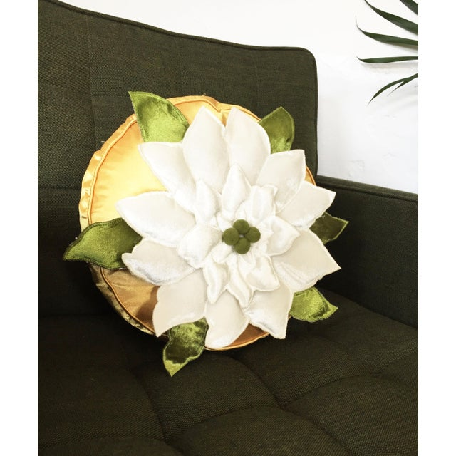 Mid Century Modern Round Pillow : Mid-Century Round Floral Pillow Chairish