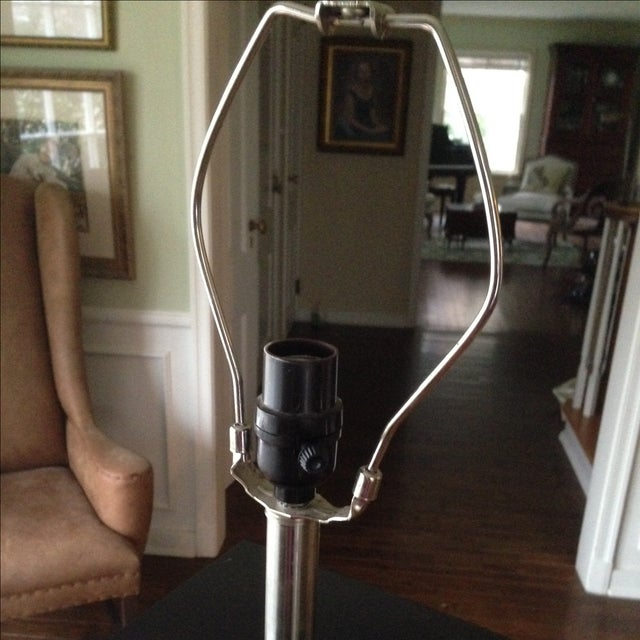 Mid-Century Modern Style Black & Chrome Lamp - Image 6 of 9