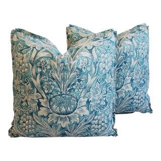 Morris Sunflower Linen & Chenille Pillows - a Pair