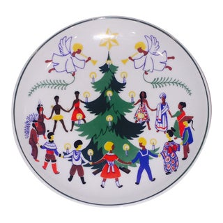 Vintage Lyngby Christmas Around the World Plate