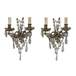 French Crystal Sconces