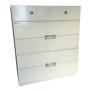 Albert Furniture White Lacquer Bureau