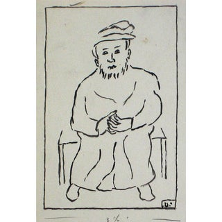 Jennings Tofel Vintage Seated European Man Drawing