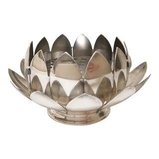 Reed & Barton Silver Lotus Flower Vase Set