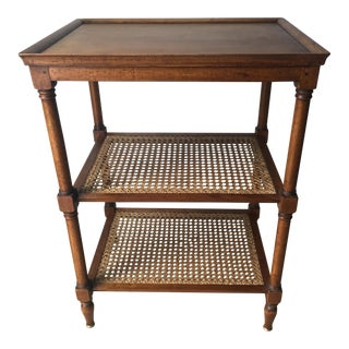 Antique Regency Caned Yew Wood Etagere