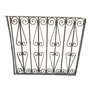 Antique Victorian Iron Gate Window Garden Fence Architectural Salvage Door #631