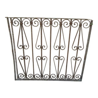 Antique Victorian Iron Gate Window Garden Fence Architectural Salvage Door #631