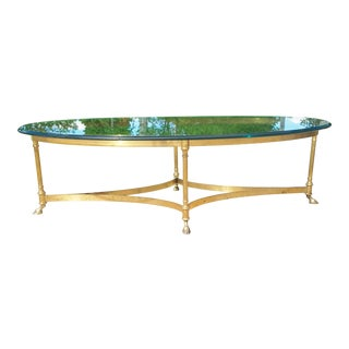 LaBarge Hollywood Regency Brass Coffee Table