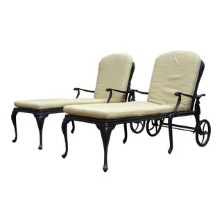 Summer Classics Provence Outdoor Chaise Lounges - A Pair