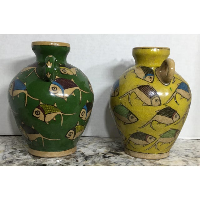Vintage Persian Ceramic Vessels - A Pair - Image 5 of 11