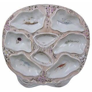 Antique Sea Life Shell Shaped Oyster Plate