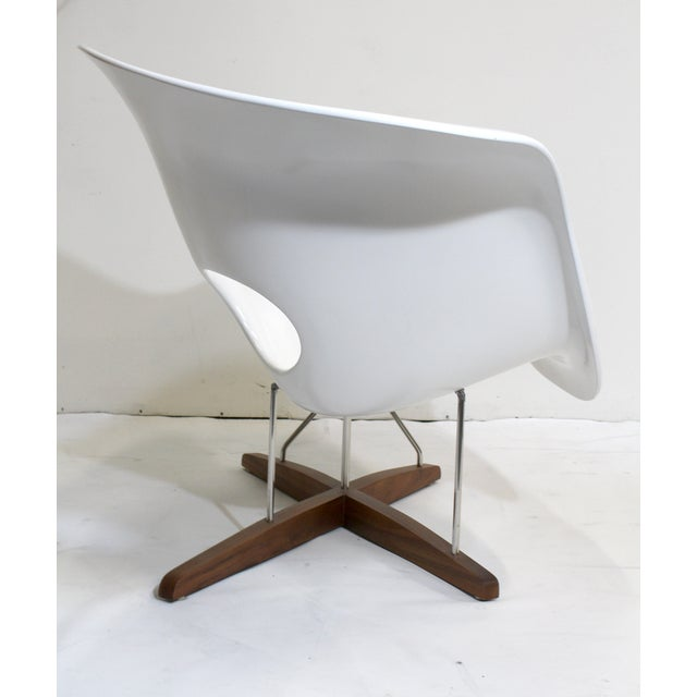 Eames Vitra White La Chaise Chair  Chairish
