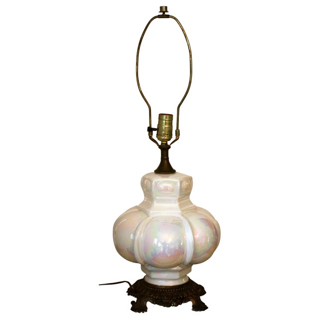 Mid-Century Opalescent Lamp - Image 1 of 4