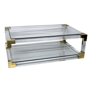 Lucite Glass Top Coffee Table