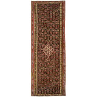 "Antique Senneh Kilim Rug - 3'7"" 10'4"""