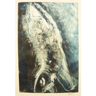 "Martha Holden ""Man Kneeling"" Monotype Print"
