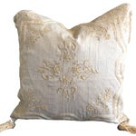 Image of Luxury Raw Silk Embroidered Accent Pillow