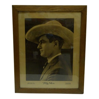 """Vintage """"Tom Mix"""" Movie Theater Poster"""