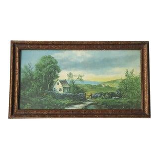 Vintage Pastoral Landscape Print
