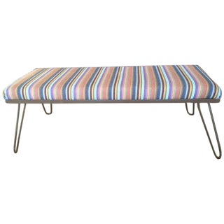 Upholstered Bench with Hairpin Legs