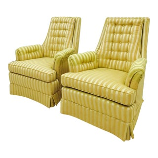 Retro Mid-Century Arm Chairs - Pair