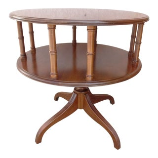 Vintage Solid Cherry Duncan Phyfe Book Shelf End Table