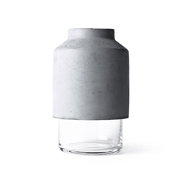 Image of Willman Menu Concrete and Glass Vase